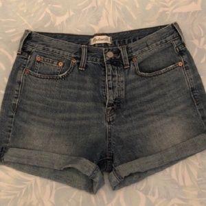 Madewell High Wasted Denim Shorts
